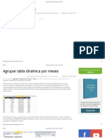 Agrupar Tabla Dinámica Por Meses - Excel Total