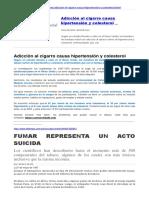 Cigarrillo Causa Hipertensión - Colesterol - Envejecimiento Cerebral
