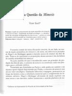 KNOLL, V. Sobre a questão da mimesis