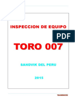 Inspeccion Scoop Tram - Toro 007
