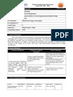 Syllabus of Green Engineering and Boiler Design