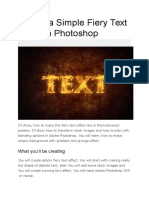 Day 2 - Create a Simple Fiery Text Effect in Photoshop