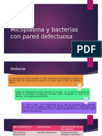 Micoplasma y Bacterias Con Pared Defectuosa