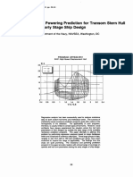 Resistance and Powering Prediction for Transom Stern Hull Forms During Early Stage Ship Design S C Fung