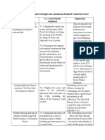critically gifted students strategies and assessments standard connection chart