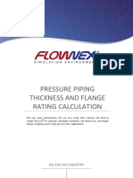 Pressure Piping Thickness and Flange Rating Calculation