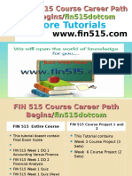 FIN 515 Course Career Path Begins Fin515dotcom