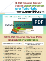 GEN 499 Course Career Path Begins Gen499dotcom