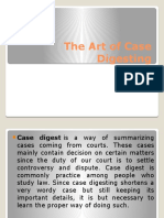 The Art of Case Digesting