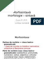 Limba Romana. Morfosintaxa
