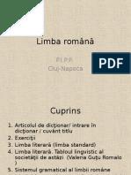 Limba Romana. Articolul de Dictionar
