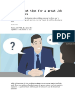 5 Important Tips for a Great Job Interview