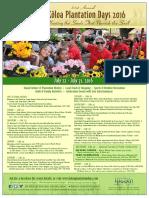Koloa Plantation Days 2016 Event Schedule