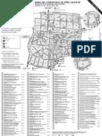 Plano Mapa Cementerio Pere Lachaise Paris
