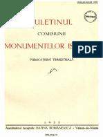 Buletinul Comisiunii Monumentelor Istorice 1935 Anul XXVIII