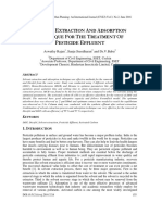 SOLVENT EXTRACTION AND ADSORPTION TECHNIQUE FOR THE TREATMENT OF PESTICIDE EFFLUENT