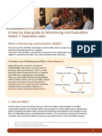 Guide to Monitoring and Evaluation V