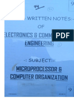9 Microprocessor Computer Organisation