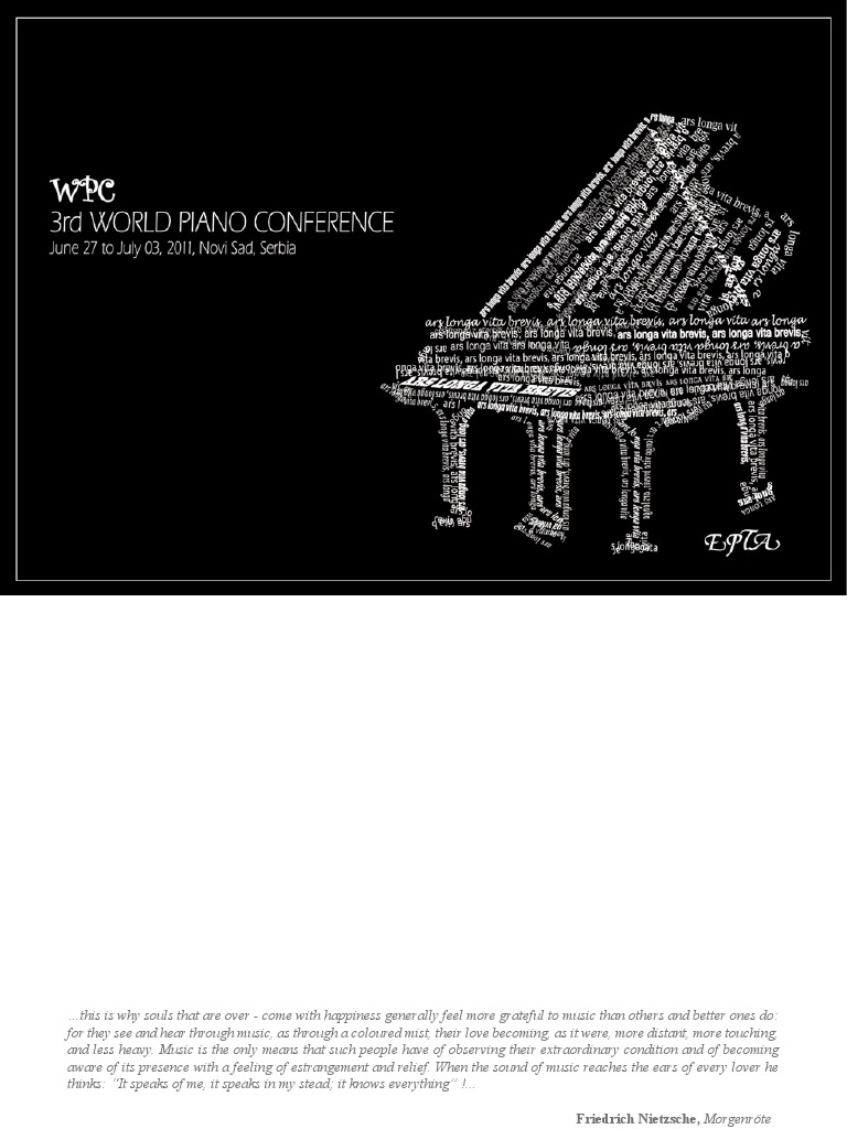 3rd World Piano Petition Catalogue Classical Music