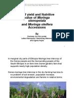 Nutritive Value of Moringa Stenopetala and Moringa Oleifera