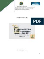 Regulamento - i Mostra Cultural Do Ifpi 2016 - 24-06-16