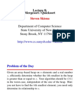 Lecture 8 Quicksort