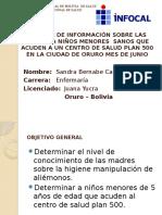 Estado Plurinacional de Bolivia de Salud