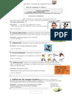 Guía de Lenguaje Figuras Literarias 5 Basico