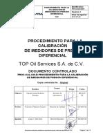 TOS-CAL-038-B Procedimiento de calibración de Medidores difrenciales