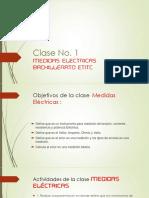 Clase No 1.0 Medidas Electricas