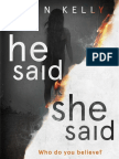 An extract from HE SAID/SHE SAID, by Erin Kelly