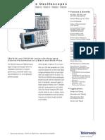 Datasheet de Osciloscopio