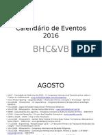 Calendário de Eventos 2016