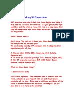Cracking SAP Interviews