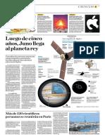 Luego de Cinco Años, Juno Llega Al Planeta Rey