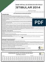 Caderno de Questoes Vestibular UNIVESP 2014