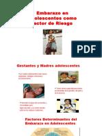 Embarazo en Adolescentes Como Factor de Riesgo