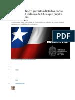 8 Cursos Online y Gratuitos Dictados Por La Universidad Católica de Chile Que Puedes Seguir en Julio