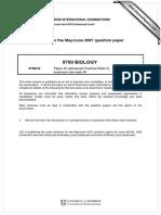 Cambridge A-Level Biology Marking scheme