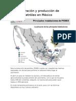 Exploración y Producción de Petróleo en México