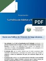 """""""La Política de Hábitat y Vivienda"""""""