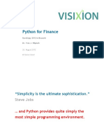 VX Python for Finance EuroScipy 2012 Y Hilpisch