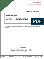 Lsj320ap04 e Samsung