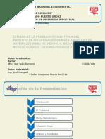 Estudio Produccion Cientifica Del Instituto Investigaciones Metalurgicas y Materiales.