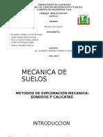 TIPOS DE SONDEOS Y CALICATAS R.R