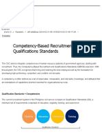 CSC - Competency-Based Recruitment and Qualifications Standards
