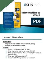 Intro to Osha Presentation