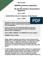 Johnson v. Atherton, 296 F.3d 991, 10th Cir. (2002)
