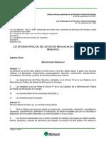 Ley de Obras Públicas Del Edo. de Mich