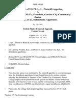 Hubert M. Latemple, Jr. v. Raymond D. Wamsley, President, Garden City Community Junior College, 549 F.2d 185, 10th Cir. (1977)